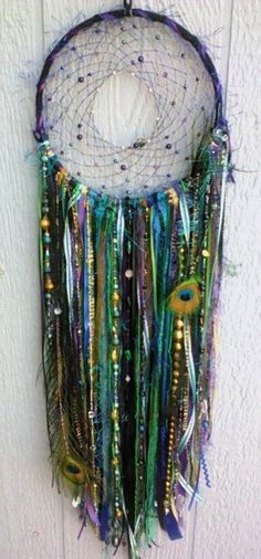 LED Peacock DreamcatcherHandmade 8 in Dream Catcher by DreamRaes, $85.00