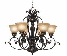 Golden Lighting 60296 EB Jefferson Six Light Chandelier Etruscan Bronze Finish ** Be sure to check out this awesome product.-It is an affiliate link to Amazon. #DiningRoomLighting