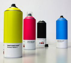 Italian graffiti artist has created a set of conceptual spray paint cans using colors from the Pantone Matching System. Pantone Paint, Pantone Cmyk, Pantone Color, Pantone Number, Spray Paint Cans, Spray Painting, Packaging Inspiration, Swatch, Pantone Universe