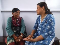 Rasmi talks with Dr Ruth, the counsellor at Anandaban Hospital. Click through to read her story.