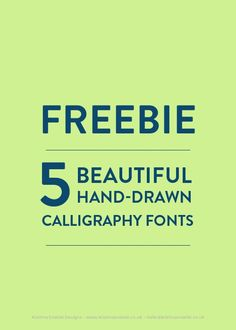 FREEBIE - 5 beautiful hand-drawn calligraphy fonts