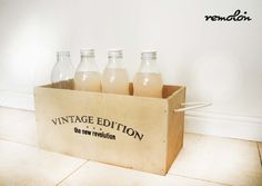 Cajón en MDF estampado en serigrafía Revolution, Soap, Personal Care, Decoration, Bottle, Vintage, Drawers, Decor, Self Care