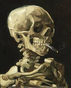 Bilderesultat for hodeskalle med brennende sigarett