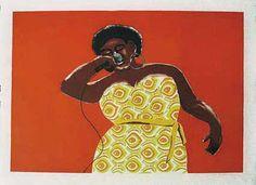 Dear Ella Fitzgerald by Jabulane Sam Nhlengethwa South African Art, Ella Fitzgerald, Africa Art, Art Inspo, Original Artwork, Street Art, Art Gallery, Design Inspiration, Fine Art