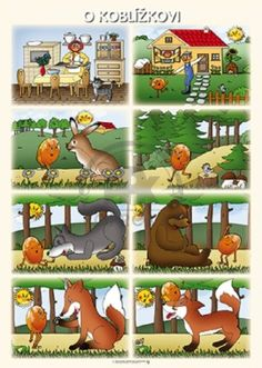 Tematický obraz Vypr.pohádku: O KOBLÍŽKOVI Sequencing Pictures, Story Sequencing, Circle Time Activities, Preschool Activities, Rabbit And Tortoise, Small Stories For Kids, English Moral Stories, Kids Math Worksheets, Picture Story