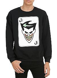 HOTTOPIC.COM - Batman: The Animated Series The Joker Crew Pullover
