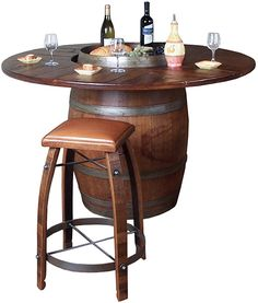 I so need this for my wine room! Barrel Bistro Table