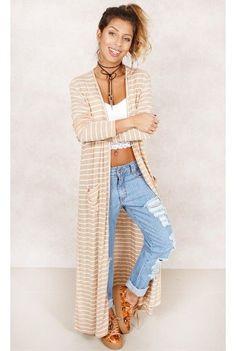 Mantela Maxi Stripes Listrado Fashion Closet - fashioncloset
