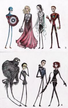 If Tim Burton did the Avengers: The Nightmare Before Infinity Guantlet