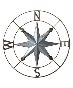 Look what I found on #zulily! Galvanized Compass Wall Décor #zulilyfinds