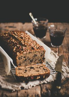 Moist and tender espresso cake with delicious bits of pecans and dark chocolate.