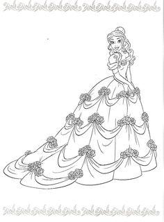 Disney Princess Colors Barbie Coloring Pages Printables Belle For Kids