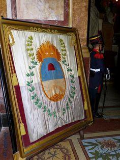 Réplica de la Bandera del Ejercito de Los Andes