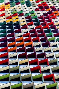 Origami Colorful Architecture Pattern - Photography byJared Lim- Einfach schön!