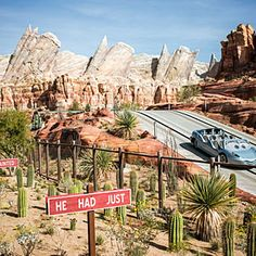 Cars Land attraction - Anaheim, CA one day we'll take Olive here