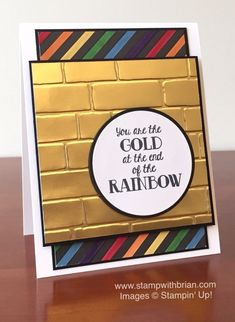 Over the Rainbow, Brick Wall Embossing Folder, Stampin' Up!, Brian King