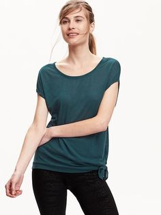 Women's  Side-Tie Tees Product Image