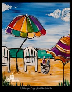 Day at the Beach Painting