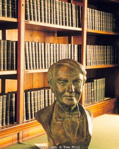 Bust of Thomas Alva Edison, Edison National Historic Site, South Orange, New Jersey