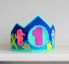 Felt birthday crown First birthday party by MiracleInspiration