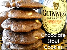 Bake It With Booze!: Chocolate Stout Cookies #InternationalStoutDay #Guinness