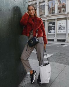 Ruta Gyvyte spotted with our Marc Jacobs Softshot bag in Blue Sea Girly Outfits, Pretty Outfits, Stylish Outfits, Beautiful Outfits, Fall Outfits, Cute Outfits, Girl Fashion, Fashion Outfits, Womens Fashion