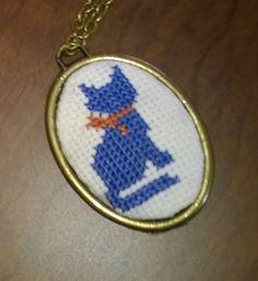 Handmade Cross stitch Necklace by neslyhandmade on Etsy