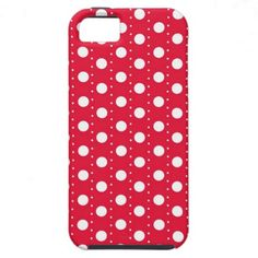 #Red #PolkaDot #Pattern #iPhone 5 #Cover
