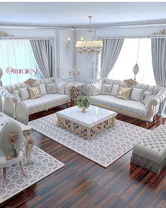 The Simple Romantic Living Room Trap 138 Living Room Sofa Design, Living Room Decor Cozy, Home Living Room, Interior Design Living Room, Living Room Designs, Luxury Sofa, Luxury Living, Luxury Furniture, Furniture Design