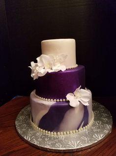 Purple Cakes, Purple Wedding Cakes, Cool Wedding Cakes, Beautiful Wedding Cakes, Beautiful Cakes, Amazing Cakes, Cupcake Cakes, Cupcakes, Couture Cakes