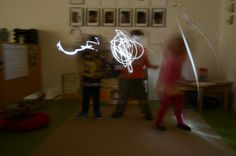 We tried our hand at light painting as well – and found inspiration in the ethereal images for storytelling.-The Thinking Classroom