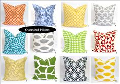 $19 for 20 inch pillow cover - love the yellow #3 an #5