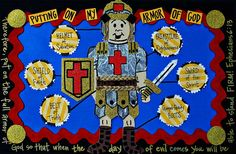 I want to make this placemat myself and let my little Sprouts 'pin' the armor on the soldier. :)
