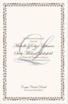 Wedding Processional Order Template Gallery - Template Design Ideas