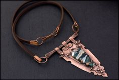 Rustic Talisman Necklace: Hand Forged Copper by AnniamAeDesigns