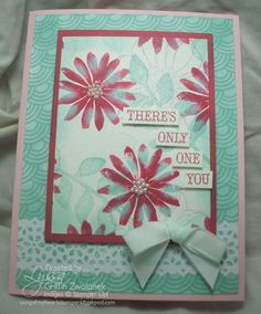Love this card using the baby wipe technique!