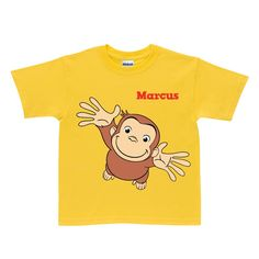 Buy Curious George Pick Me Up Yellow T-Shirt at the PBS KIDS Shop.