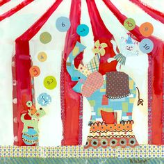 Big Top Counting Circus Canvas Art