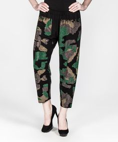 This Black Camo Crop Lounge Pants - Plus Too is perfect! #zulilyfinds