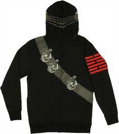 GI Joe Snake Eyes Costume Hoodie. This site has great G. I. Joe apparel.