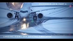 Landing Views Zurich Airport | Deicing Timelapse | Dezember 2018 Part 4 Zurich, Music Videos, Aviation, Aircraft, Landing, Icing, December, Air Ride, Plane