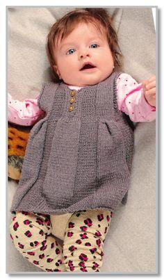 Вязание спицами. Платье-туника без рукавов из тонкой шерстяной пряжи. Размеры 56-62 (68-74) 80-86
