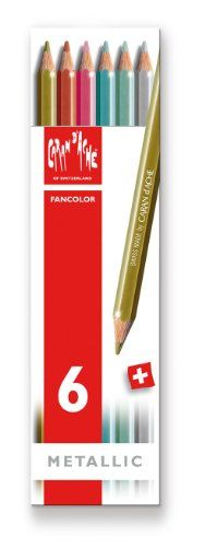 Caran dAche Fancolor Color Pencils 6 Metallic Colors