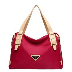 Novias Fashion Women Waterproof Nylon Large Capacity Travel Tote Shoulder Bag Handbag Tophandle BagWine Red -- You can find more details by visiting the image link.Note:It is affiliate link to Amazon.