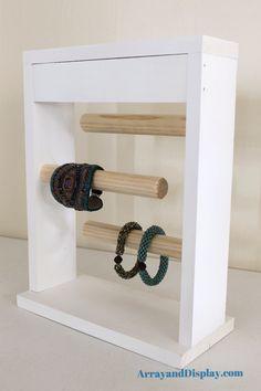 White Jewelry Display Bracelet Stand