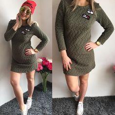 NOVINKA   Army šaty s nášivkami / veľ.UNI vhodné pre S-M-L ( v prípade potreby pošlem miery) 1690 Dostupné aj na www.tvojstyl.fashion #army#crazy#dress#dnesnosim#fashion