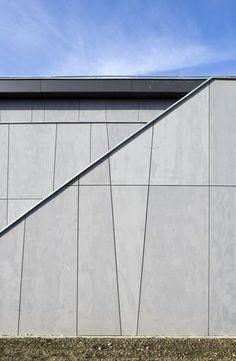 Assymetric facade panel lay. out. arch: B612 associates. EQUITONE facade panels. equitone.com