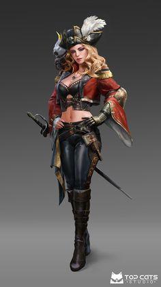 Dnd Characters, Fantasy Characters, Female Characters, Pirate Art, Pirate Woman, Pirate Crafts, Pirate Ships, Fantasy Art Women, Fantasy Girl