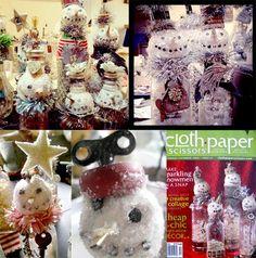 Sue Pelletier Snowman Bottles