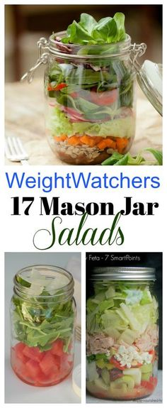 17 Weight Watchers Mason Jar Salads with SmartPoints!